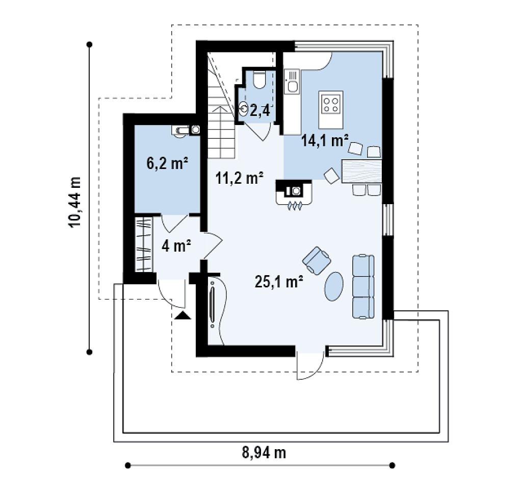 Готовый домокомплект Берген