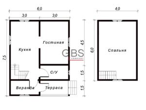 Схема. Дачный дом Кострома