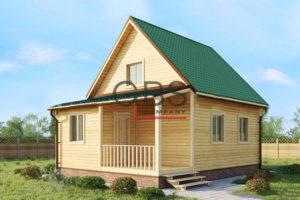 Проект дачного дома Кострома