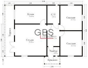 Схема дачного дома Новогород