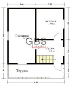 Схема дачного дома Воронеж