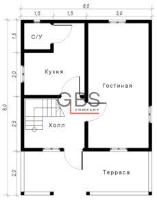 Схема дачного дома Терем