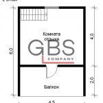 Схема 2 этажа .Дом дачный с сауной Березка