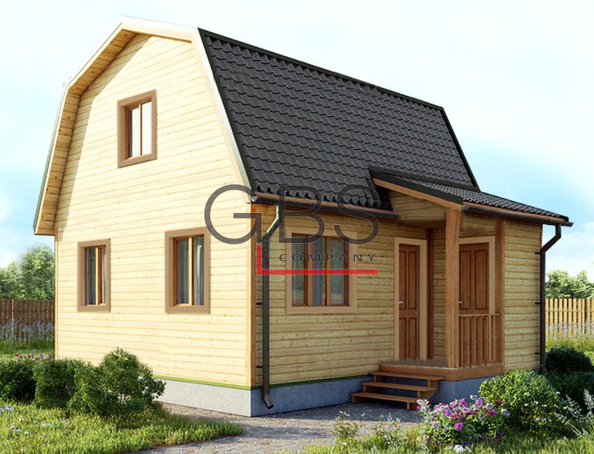 """Проект дачныи? дом """"Смоленск"""" 6х6"""