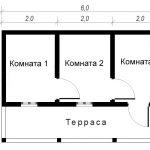 Садовый дом Ветерок. Схема этажа